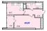 Однокомнатная - ЖК 40 и 41 ЖемчужиныПроданаПлощадь:43,97m²