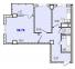 Двухкомнатная - ЖК 40 и 41 ЖемчужиныПроданаПлощадь:58,78m²