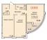 Двухкомнатная - ЖК 35 Жемчужина (Тридцать пятая)ПроданаПлощадь:76,19m²