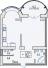 Однокомнатная - ЖК Французский бульвар, 29ПроданаПлощадь:78,5m²