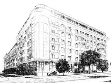 Дом на Еврейской 3 Чайная фабрика Будова Новострой в Одессе Визуализация