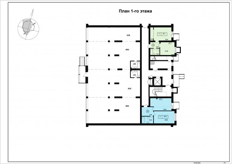 ЖК Парк Фонтанов / Секция 5 / План 1-го этажа