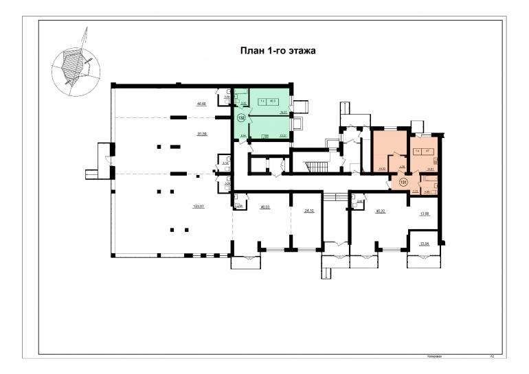 ЖК Парк Фонтанов / Секция 6(л) / План 1-го этажа