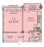 Однокомнатная - ЖК Дом на Еврейской, 3 (Чайная фабрика Будова)ПроданаПлощадь:53,4m²