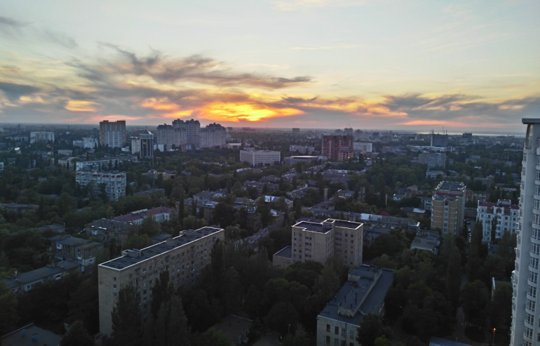 ЖК Французский бульвар Стикон Однокомнатная 35,8 Вид из окон