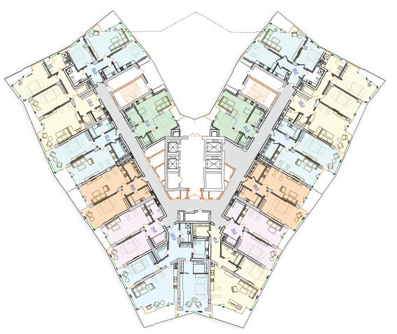 ЖК Royal Island / План типового этажа