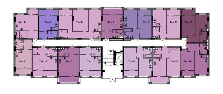 ЖК Артвилль / Диана/ Дом №3 / План типового этажа