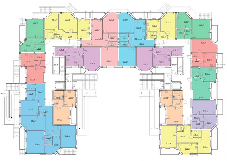 ЖК Мариинский / План 1-го этажа