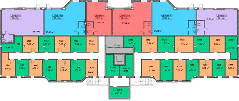 ЖК Мариинский / Секция Б / План цокольного этажа