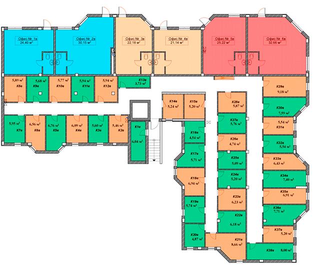 ЖК Мариинский / Секция В / План цокольного этажа