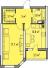 Однокомнатная - ЖК Элегия Парк$43500Площадь:42,32m²