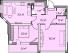 Двухкомнатная - ЖК Элегия Парк$60499Площадь:65,76m²