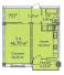Однокомнатная - ЖК Дом на Еврейской, 3 (Чайная фабрика Будова)ПроданаПлощадь:46,7m²