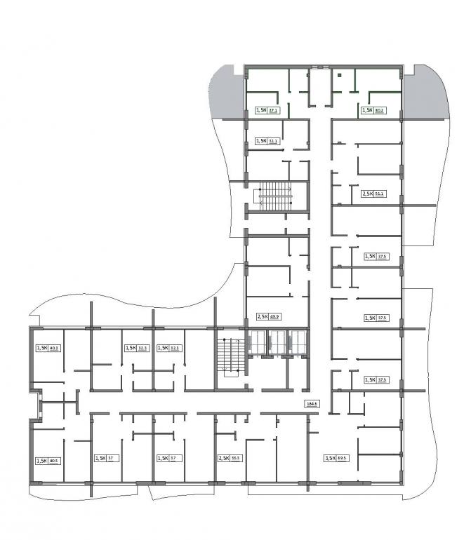 Imperium Towers (Империум Тауэрс) / План типового этажа