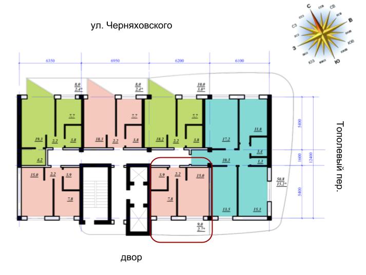 Сады Семирамиды однокомнатная 31,6 планировка