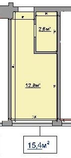 Однокомнатная - ЖК на ул. Промышленная, 37-Т$10000Площадь:15,4m²