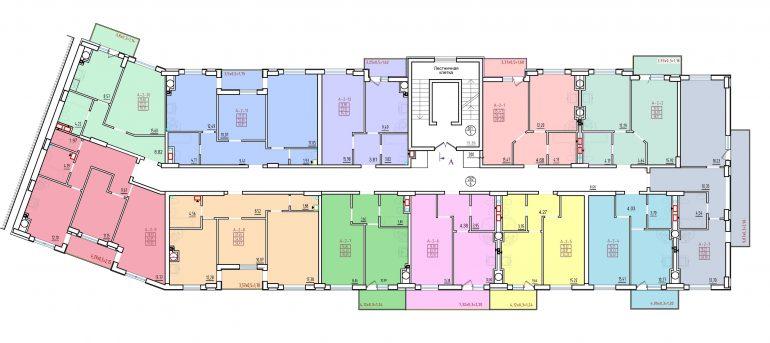 жк континенталь киевский район секция 2 Б планировка этажа