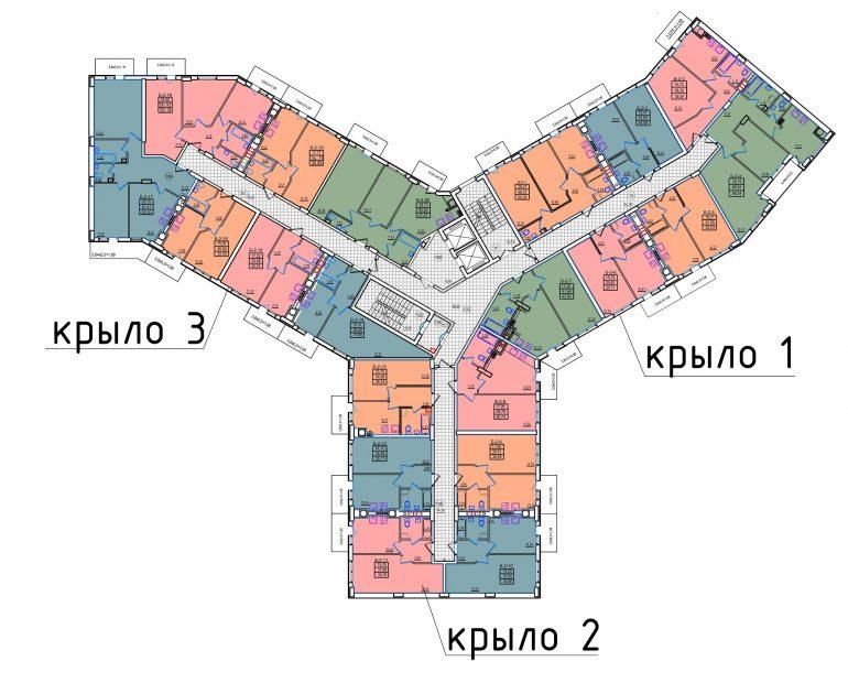жк континент киевский район секция 2 Б планировка этажа