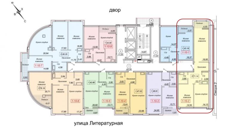 71,14 кв.м. жк 35 тридцать пятая жемчужина расположение на этаже двухкомнатная