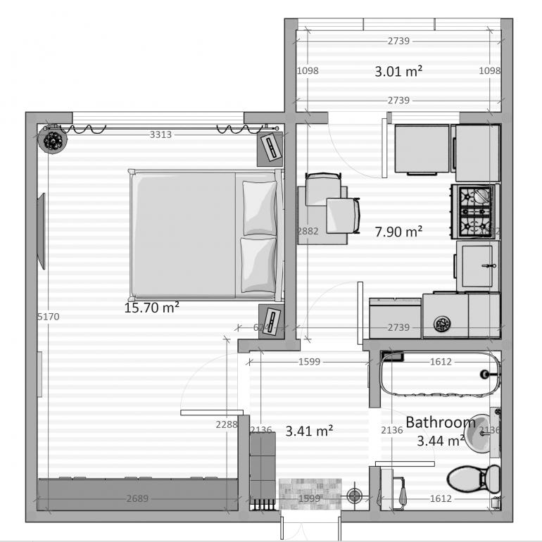 31,85 кв.м жк два академика планировка 11-12 этаж