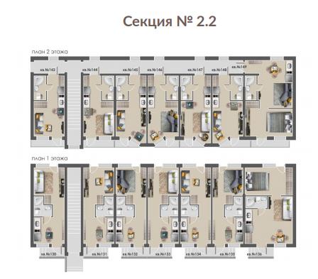 план этажа жк андриевский секция 2.2