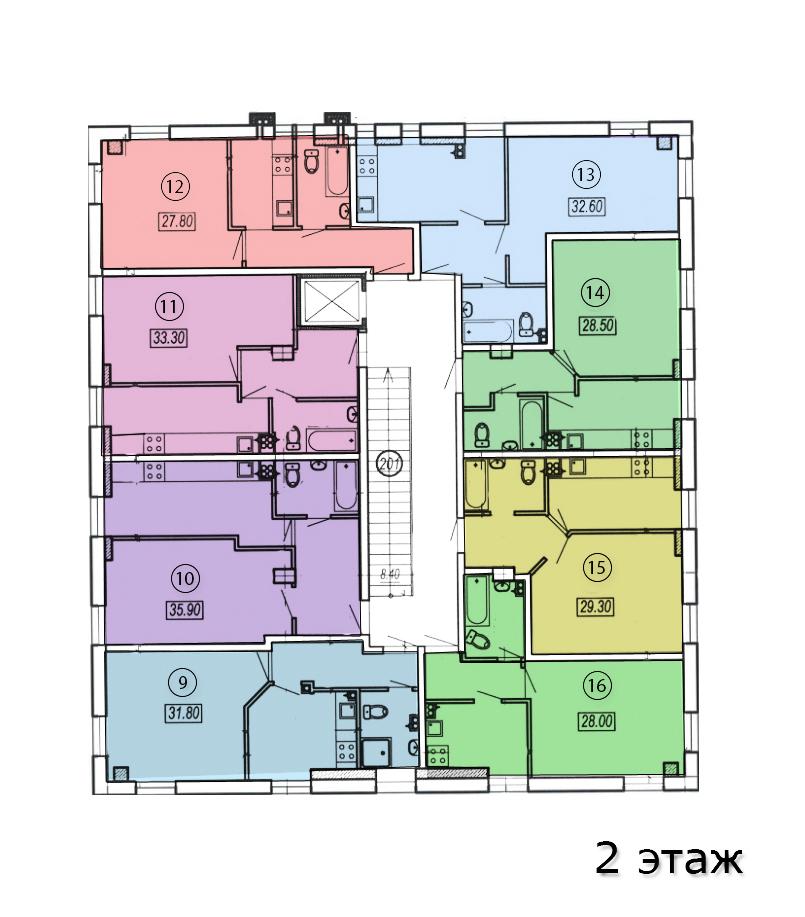 жк клубный №4 план 2-го этажа
