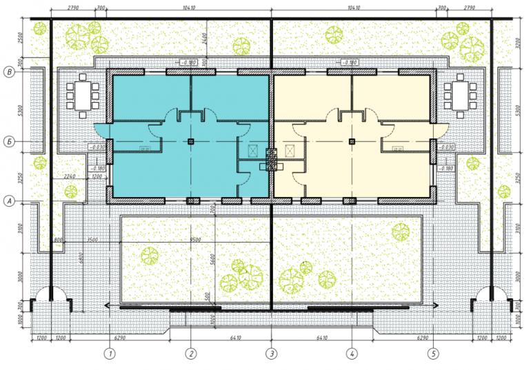 74 кв.м коттеджный поселок светлый совиньон двухквартирный коттедж