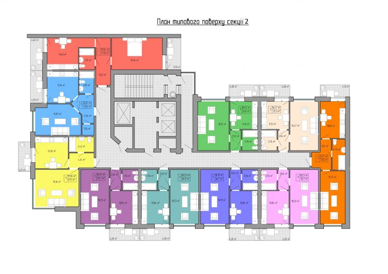 ЖК Акварель -2 планировка 1 секция