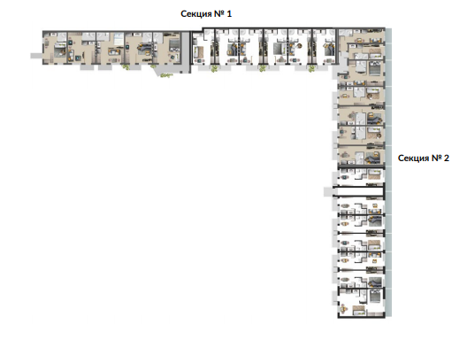 план этажа жк андриевский секция общий вид
