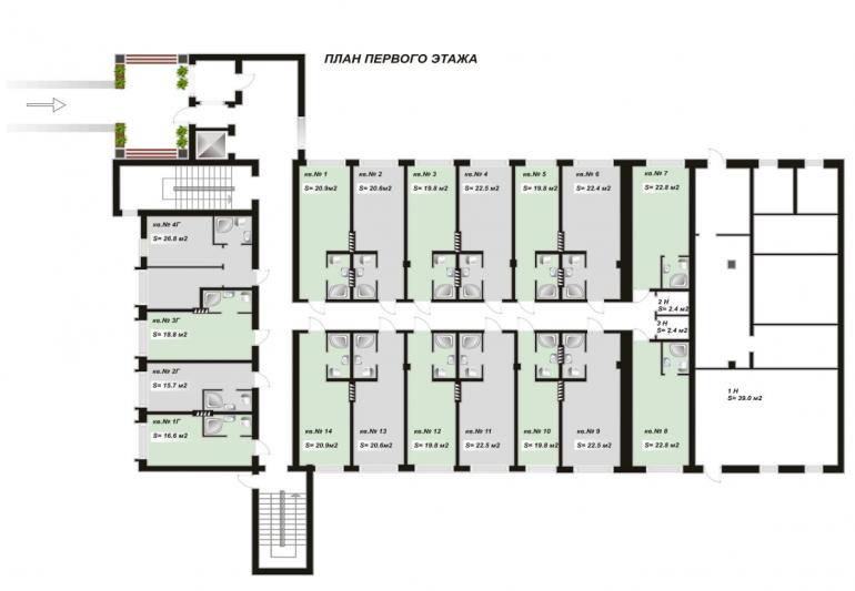 план первого этажа ЖК Андреевский