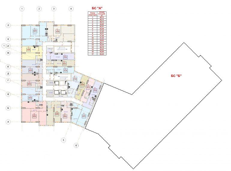 План этажа ЖК Посейдон Гефест
