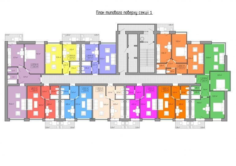 ЖК Акварель -2 планировка 2 секция