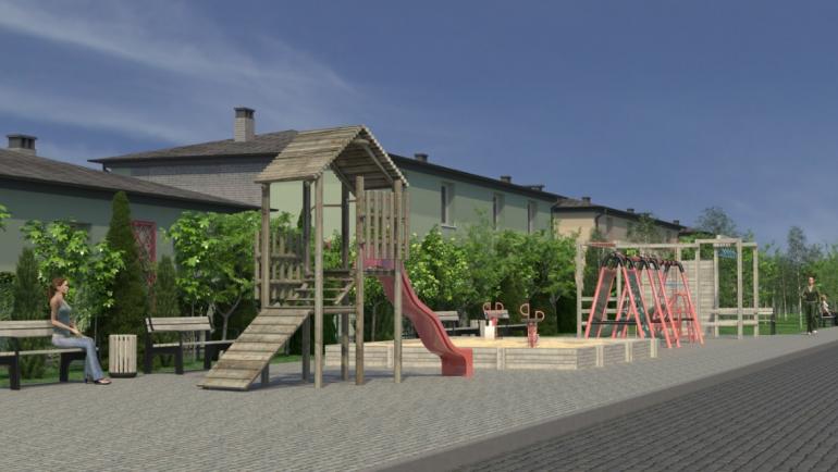 коттеджный поселок светлый совиньон детская площадка