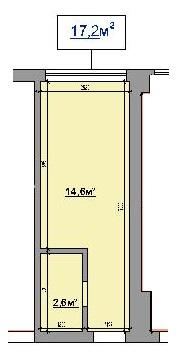 Однокомнатная - ЖК на ул. Промышленная, 37-ТПроданаПлощадь:17,2m²