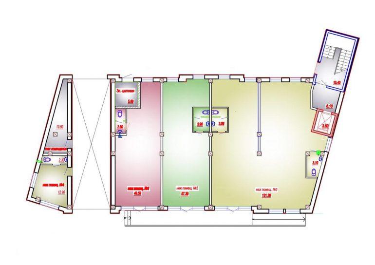 ЖК Дом на Приморской планировка 1 этаж