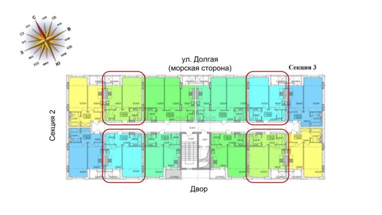 37,8 кв.м жк клаб марин2 club marine 2 однокомнатная расположение на этаже
