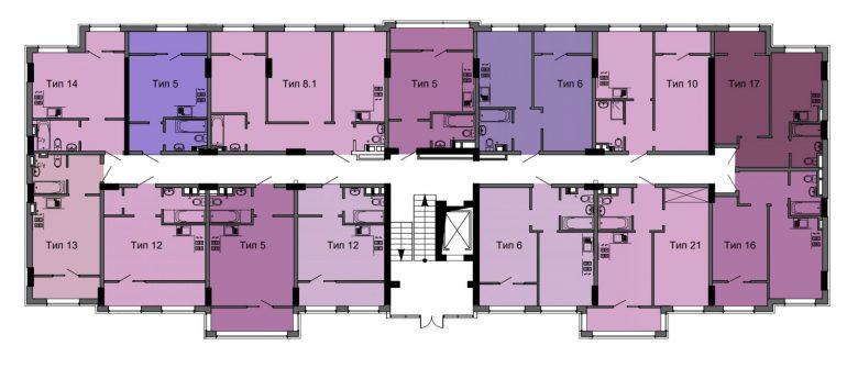 ЖК ЖК ArtVille (АртВилль) дом 11 типовая планировка