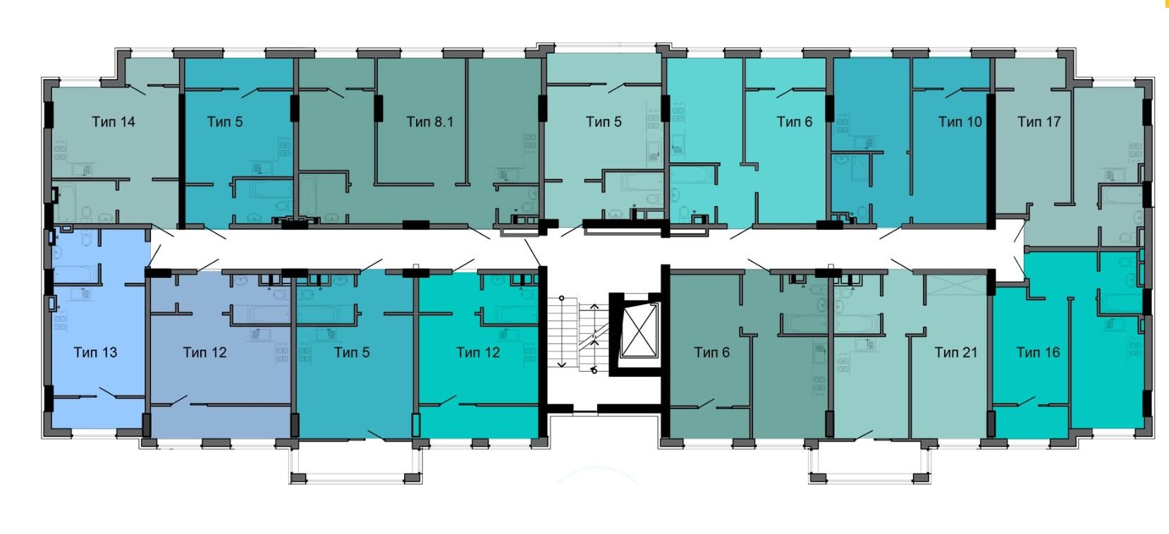 ЖК ЖК ArtVille (АртВилль) дом 15 типовая планировка