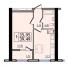 Однокомнатная - ЖК 47 ЖемчужинаПроданаПлощадь:39,3m²