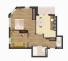 Двухкомнатная - ЖК Золотая Эра$36150Площадь:62,87 m²