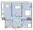 Двухкомнатная - ЖК Платинум Резиденс Platinum Residence$85753Площадь:62,14m²