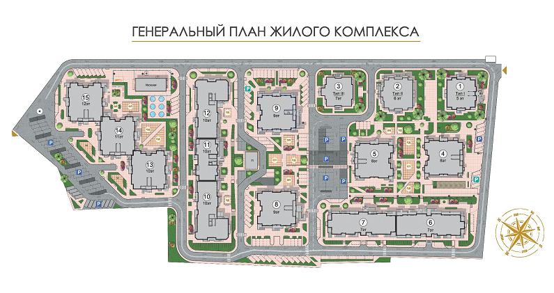 gen plan ЖК золотая Эра генплан