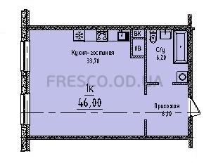 Однокомнатная - ЖК Sea View (Си Вью) Будова Гагаринское плато,4$42320Площадь:46m²