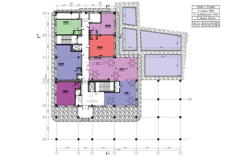ЖК Бецалель (Bezalel) план 1 этажа