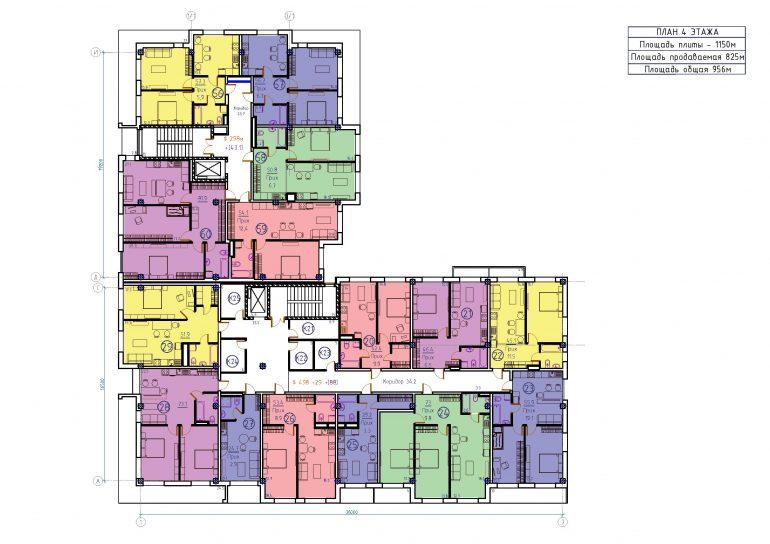 ЖК Бецалель (Bezalel) план 4 этажа