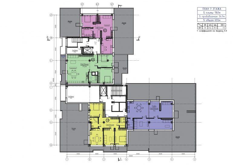 ЖК Бецалель (Bezalel) план 7 этажа
