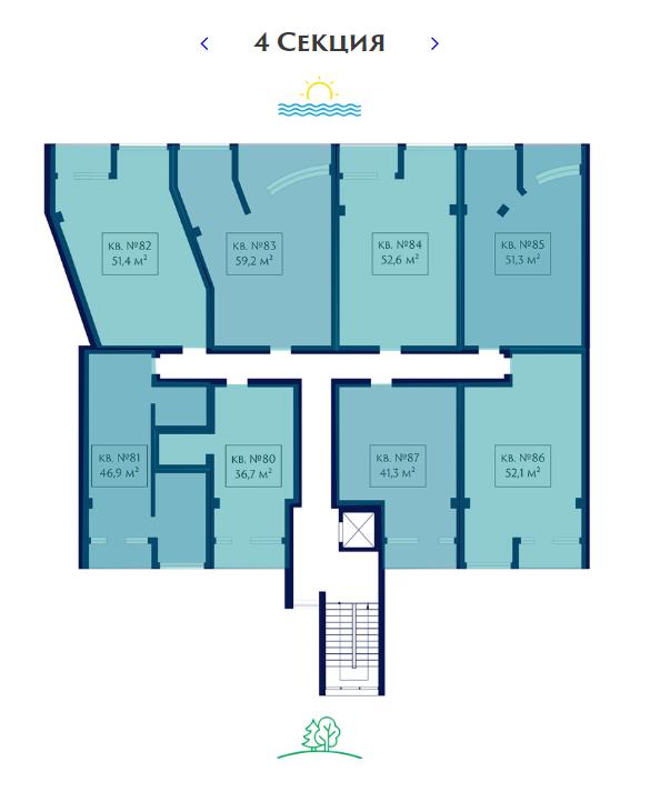 ЖК Магнит план 4 секции