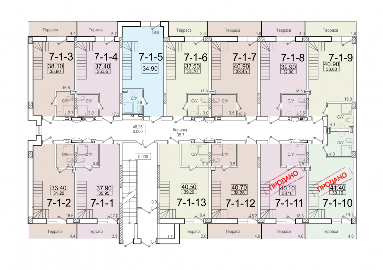 ЖК Смарт Smart 7 секция 1 этаж 1 уровень