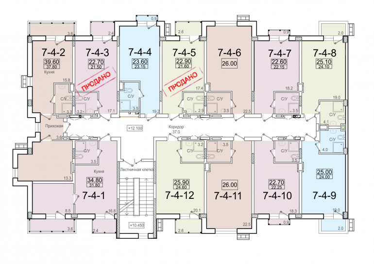ЖК Смарт Smart 7 секция 4 этаж