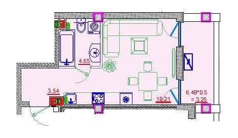 Однокомнатная - Клубный дом Пространство на Неделина$26350Площадь:31m²